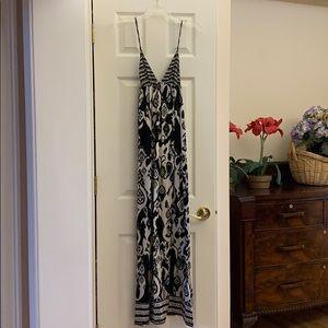 Black and white full length maxi dress